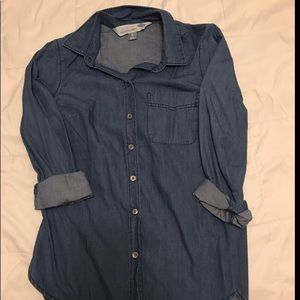 Old Navy Chambray Blue Button Up